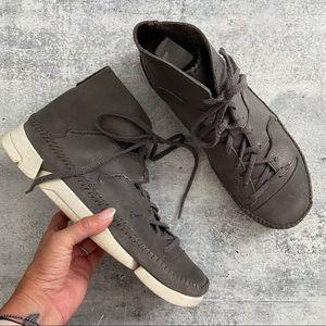 Men's Clark's Trigenic Grey Leather Flex Hi Top 13